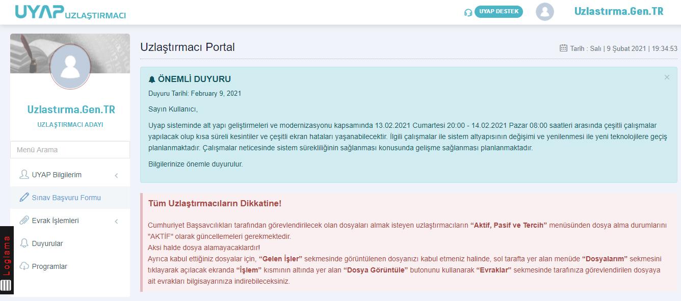 uzlastirma uzlastirmaci sinavi uzlastirmaci portal 2021 uzlastirmaci sinavi